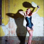Sophie Nova wearing Orchid Corsetry at the Morcambe Winter Gardens Theatre.