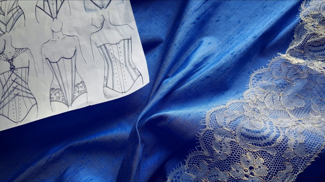 Silk, lace and sketches