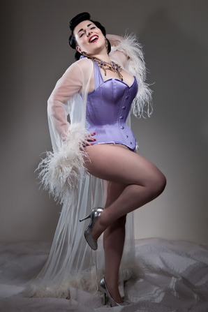 Orchid Corsetry Princess Overbust modelled Miss Anne Thropy