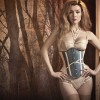 "The silk ""Régate"" lingerie set features delicate strapping and a lingerie harness."