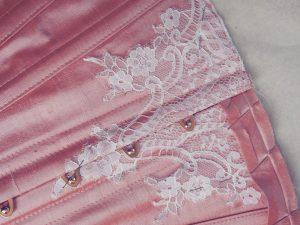Edwardian bespoke corset in progress