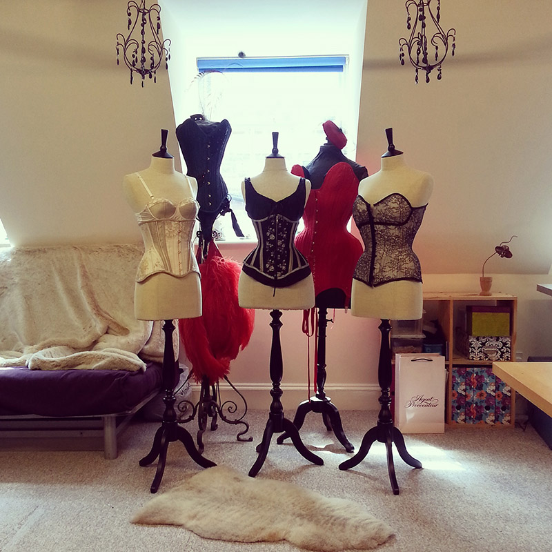 Our new mannequins installed in the Orchid studio.