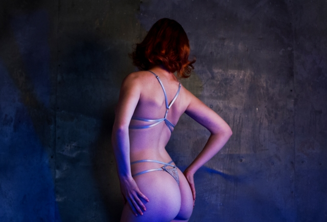 A back view of the Acquiesce lingerie
