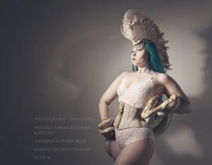 Sarah Jeremiah wearing the Elite waspie