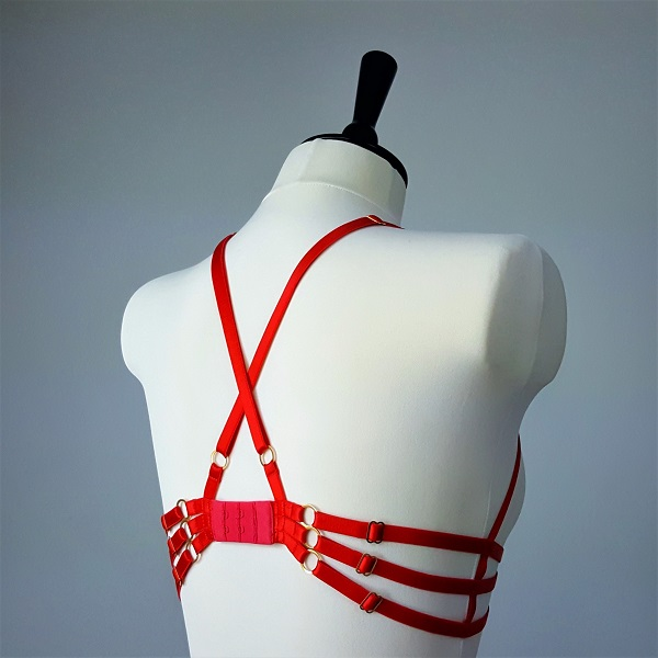 Cross-over back on the Inira frame bra