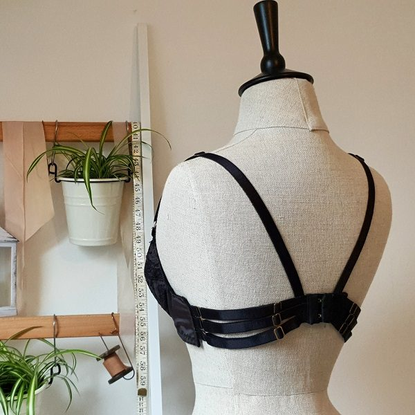 Underwired bra from the back