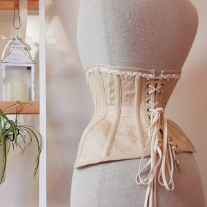 Vala sample corset in cream and ivory