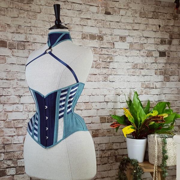 asymmetric strapped underbust corset