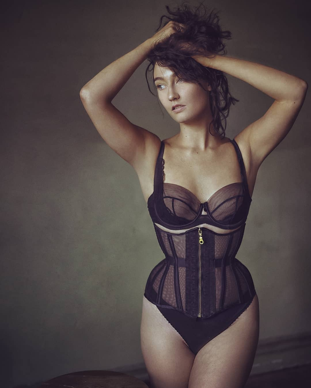 stealthing silk mesh corset