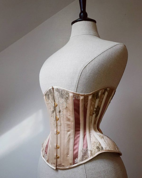 A bespoke silk and lace creation