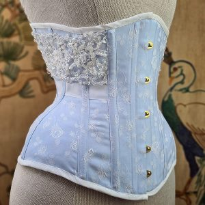 baby blue underbust with beading