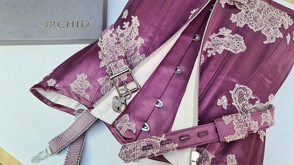 front view of Little Foxglove locking corset