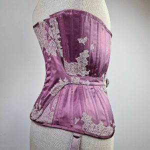 rear view of locking corset on mannequin