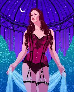 Logandria illustration of our Meriel overbust corset