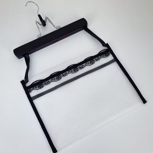Black lingerie storage bag